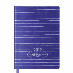 Ежедневник датированный 2019 Buromax Design RELAX, фиолетовый, А6