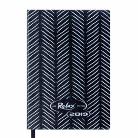 Ежедневник датированный 2019 Buromax Design RELAX, черный, А6