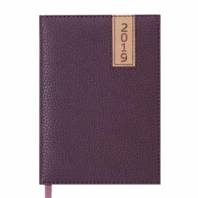 Ежедневник датированный 2019 Buromax Classic VERTICAL, коричневый, А6