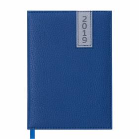 Ежедневник датированный 2019 Buromax Classic VERTICAL, синий, А6