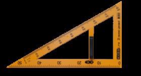 Угольник 90°х60°х30°/50 см ZiBi TEACHER, желтый