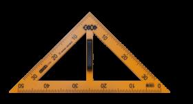 Угольник 45°х90°х45°/50 см ZiBi TEACHER, желтый