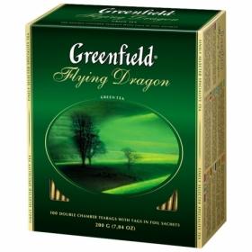 Чай зелёный в пакетиках Greenfield FLYING DRAGON, 100 шт х 2 г