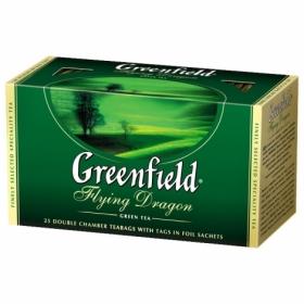 Чай зелёный в пакетиках Greenfield FLYING DRAGON, 25 шт х 2 г