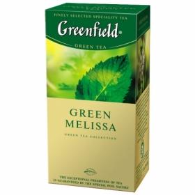 Чай зелёный в пакетиках Greenfield GREEN MELISSA, 25 шт х 1.5 г