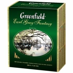 Чай черный в пакетиках Greenfield EARL GREY FANTASY, 100 шт х 2 г