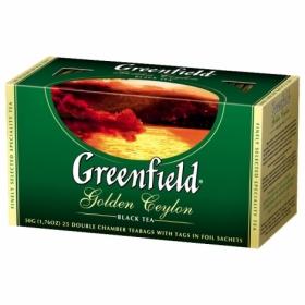 Чай черный в пакетиках Greenfield GOLDEN CEYLON, 25 шт х 2 г