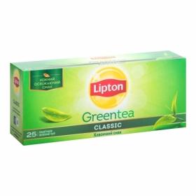 Чай зелёный в пакетиках Lipton GREEN TEA CLASSIC, 25 шт х 2 г