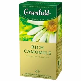 Чай травяной в пакетиках Greenfield RICH CAMOMILE, 25 пакетиков