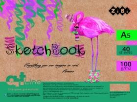 Скетчбук ZiBi ART Line А5, 40 листов