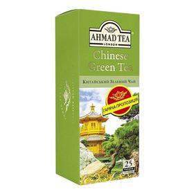 Чай зелёный в пакетиках Ahmad Китайский, 25 пакетиков