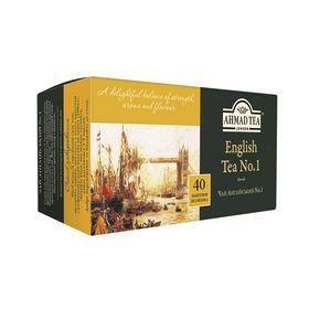 Чай черный в пакетиках Ahmad Английский №1 эконом, 40 пакетиков