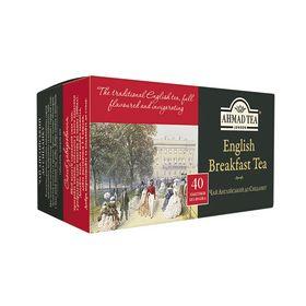 Чай черный в пакетиках Ahmad Английский к завтраку эконом, 40 пакетиков