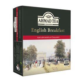 Чай черный в пакетиках Ahmad Английский к завтраку, 100 пакетиков