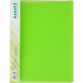 Папка со скоросшивателем Axent A4, 700 мкм, прозрачная зеленая