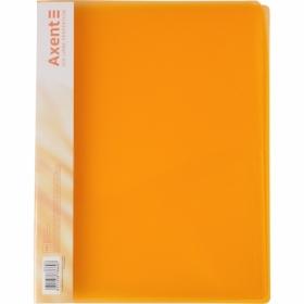 Папка со скоросшивателем Axent A4, 700 мкм, прозрачная оранжевая