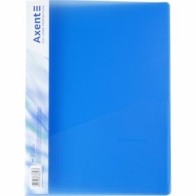 Папка со скоросшивателем Axent A4, 700 мкм, прозрачная синяя