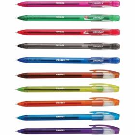 Набор гелевых ручек  Unimax Trigel-3  0,5 мм, ассорти, 10 шт