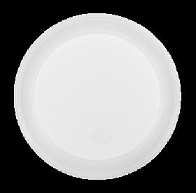 Тарелка одноразовая Buroclean десертная d-165 мм, белая, 1 секция, 100 шт