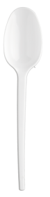 Ложечка одноразовая столовая Buroclean 16.5 см, белая, 100 шт