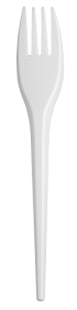 Вилка одноразовая Buroclean 16 см, белая, 100 шт
