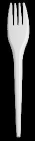 Вилка одноразовая Buroclean 17 см, белая, 100 шт