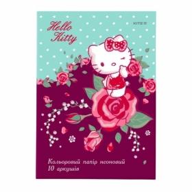 Бумага офисная цветная KITI Hello Kite неоновая, A4, 80 г/м2, 10 листов, 5 цветов