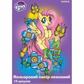 Бумага офисная цветная KITE My Little Pony неоновая, A4, 80 г/м2, 10 листов, 5 цветов