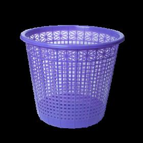Корзина для бумаг пластиковая ZiBi 8 л, фиолетовая