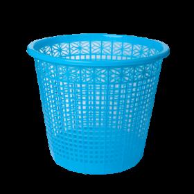 Корзина для бумаг пластиковая ZiBi 8 л, синяя