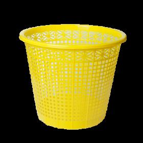 Корзина для бумаг пластиковая ZiBi 8 л, желтая