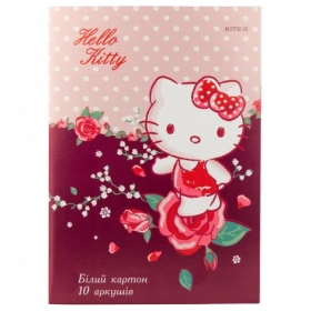 Картон белый KITE Hello Kitty A4, 10 листов