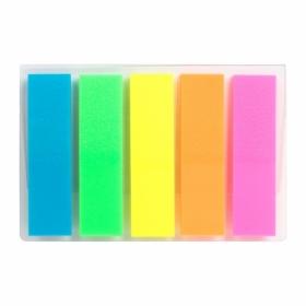 Закладки пластиковые с клейким слоем Delta, 12х45 мм, 5х25 шт, ассорти