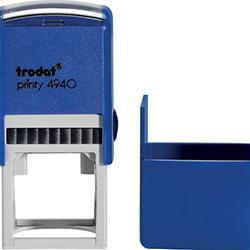 Оснастка для круглой печати Trodat Printy 4940 d 40 мм с колпачком, синяя