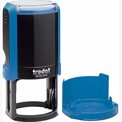 Оснастка для круглой печати Trodat Printy 4642 d 42 мм с колпачком, синяя