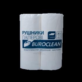 Полотенца целлюлозные Buroclean, 2 слоя, 2 рулона, белые