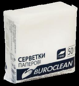 Салфетки бумажные BuroClean 24х24 см, белые, 50 шт