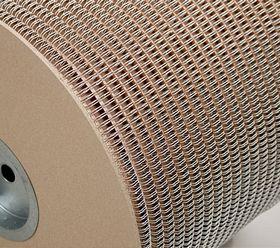 Металлическая пружина в бобине 15.9 мм, С 10 000 петель, 2:1 серебро