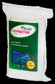 Салфетки влажные АРНИКА для LCD/TFT и плазменных экранов, запасной блок, 100 шт