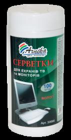 Салфетки влажные АРНИКА для экранов ТВ и мониторов, 100 шт