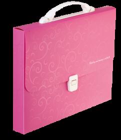 Пластиковый портфель Buromax BAROCCO А4, 1 отделение, розовый