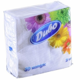 Салфетки бумажные Диво 24х24 см, белые, 100 шт