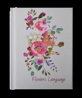 Блокнот Buromax FLOWERS LANGUAGE А6, 64 листа, клетка