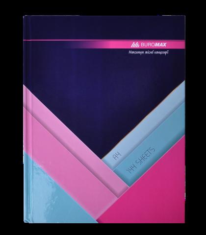 Книга канцелярская Buromax MODEST А4, 144 листов, клетка, темно-синяя