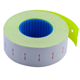Ценник прямоугольный Buromax 22х12 мм, 1000 шт, желтый