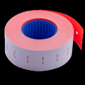 Ценник прямоугольный Buromax 22х12 мм, 1000 шт, красный