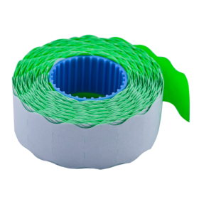 Ценник фигурный Buromax 22х12 мм, 1000 шт, зеленый