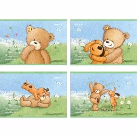 Альбом для рисования KITE Popcorn Bear А4, 12 листов