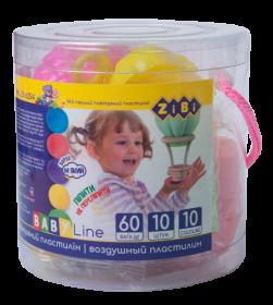 Пластилин воздушный ZIBI BABY Line, 10 цветов, 60 г