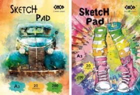 Скетчбук ZiBi ART Line А3, 20 листов